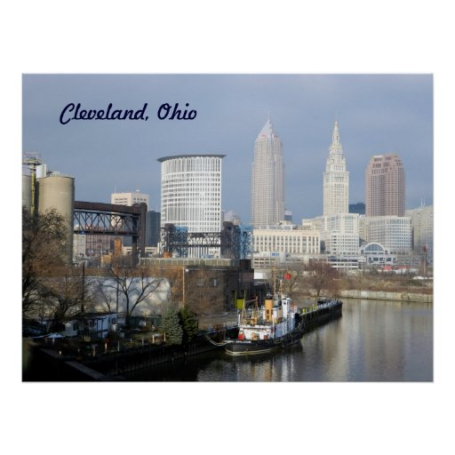 Cleveland, OH (River View) Poster