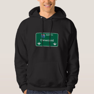 Cleveland, OH Road Sign Hoodie