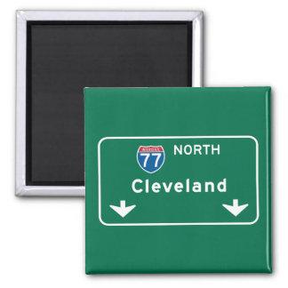 Cleveland, OH Road Sign Magnet