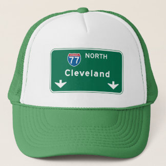 Cleveland, OH Road Sign Trucker Hat