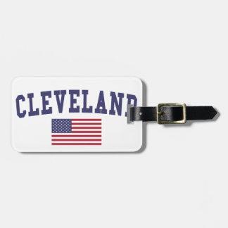 Cleveland OH US Flag Luggage Tag