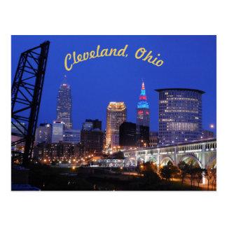 Cleveland, OH West Side Skyline (Curve) Postcard
