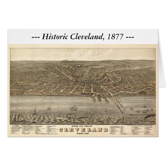 Cleveland Ohio 1877 Map Card
