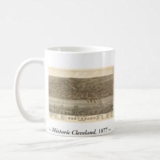 Cleveland Ohio 1877 Map Classic White Coffee Mug