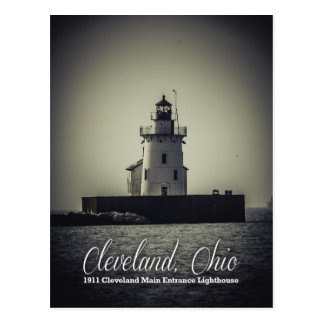 Cleveland, Ohio - 1911 Main Entrance Lighthouse Postcard