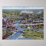 Cleveland Ohio Birdseye Poster
