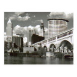 Cleveland Ohio Black and White Postcard