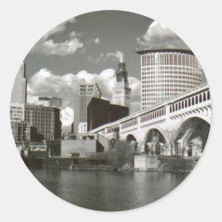 Cleveland Ohio Black and White Stickers