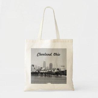 Cleveland, Ohio Black and White Tote