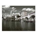Cleveland Ohio blanco y negro Tarjetas Postales