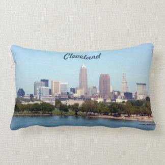 Cleveland Ohio Classic Lake Skyline Pillow