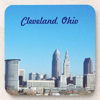 Cleveland, Ohio Cork Back Coaster