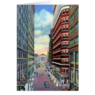 Cleveland Ohio Downtown Superior and 6th Greeting Card