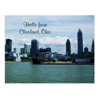 CLEVELAND, OHIO EN la postal del LAGO