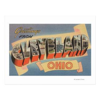 Cleveland, Ohio - escenas grandes de la letra Tarjeta Postal