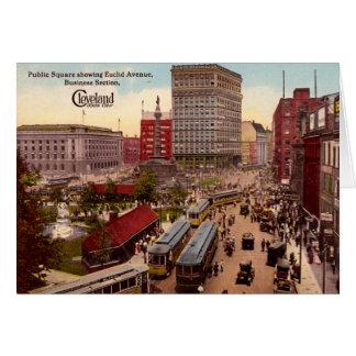 Cleveland Ohio Euclid Avenue Business District Card