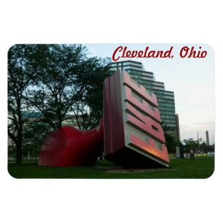 """Cleveland, Ohio """"Free"""" Landmark Magnet"""