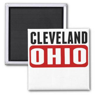 Cleveland Ohio Imán Cuadrado