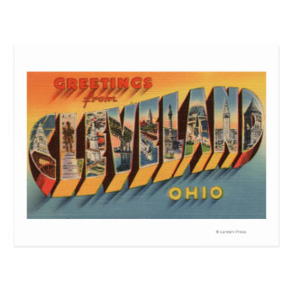 Cleveland, Ohio - Large Letter Scenes 2 Postcard