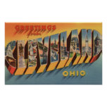 Cleveland, Ohio - Large Letter Scenes 2 Poster