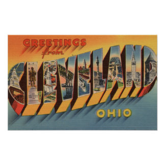 Cleveland, Ohio - Large Letter Scenes 2 Posters