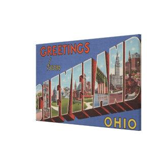 Cleveland, Ohio - Large Letter Scenes 3 Canvas Print