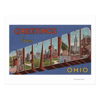 Cleveland, Ohio - Large Letter Scenes 3 Postcard