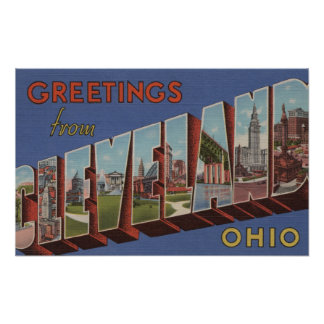 Cleveland, Ohio - Large Letter Scenes 3 Poster