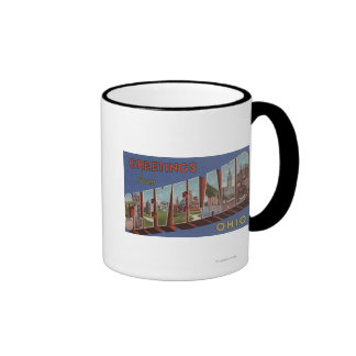 Cleveland, Ohio - Large Letter Scenes 3 Ringer Mug