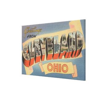 Cleveland, Ohio - Large Letter Scenes Canvas Print