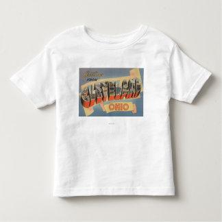 Cleveland, Ohio - Large Letter Scenes Shirt