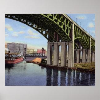 Cleveland Ohio Lorain Carnegie Bridge Poster