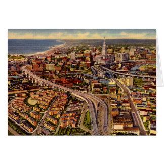 Cleveland Ohio Main Avenue Bridge Greeting Card