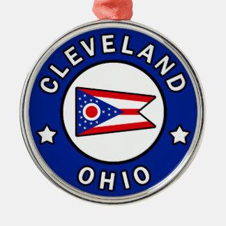 Cleveland Ohio Metal Ornament