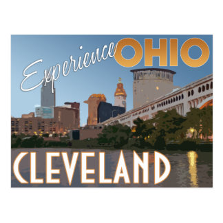 Cleveland Ohio Midwest Vintage Travel Poster Postcard