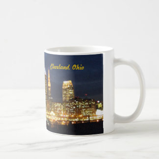 Cleveland, Ohio Night Lights Skyline Mug