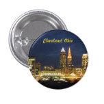 """Cleveland, Ohio """"noche enciende"""" el botón Pin"""