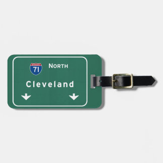 Cleveland Ohio oh Interstate Highway Freeway : Luggage Tag