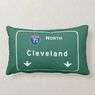 Cleveland Ohio oh Interstate Highway Freeway : Lumbar Pillow