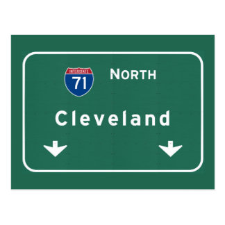 Cleveland Ohio oh Interstate Highway Freeway : Postcard