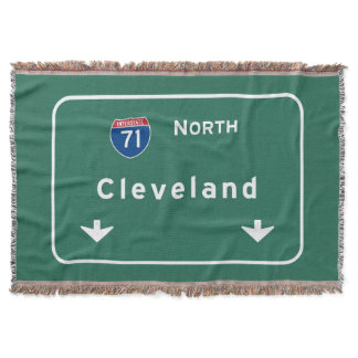 Cleveland Ohio oh Interstate Highway Freeway : Throw