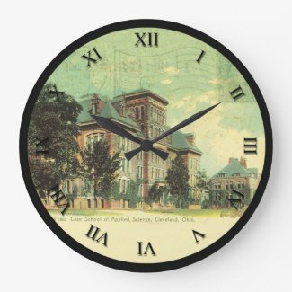 Cleveland Ohio PostCard Clock Case School Science