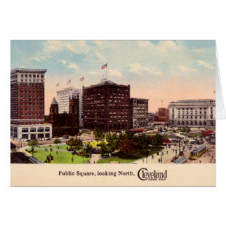 Cleveland Ohio Public Square looking North Greeting Card