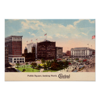 Cleveland Ohio Public Square looking North Poster