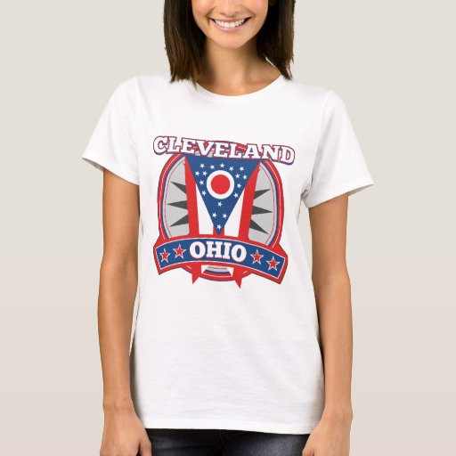 Cleveland Ohio Red White Blue Patriotic State Flag T-Shirt