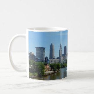 Cleveland Ohio River Skyline Mug