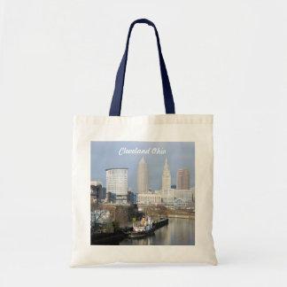 Cleveland, Ohio River Skyline Tote Bag