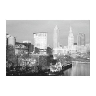 Cleveland, Ohio (River View) Black and White Print
