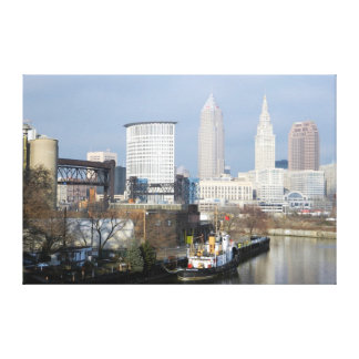 Cleveland, Ohio (River View) Canvas Print