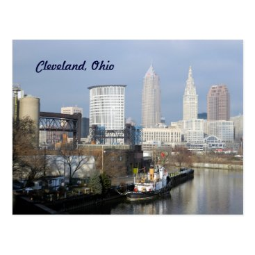 WestCreek Cleveland,Ohio River View Postcard